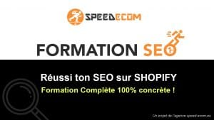 Formation dropshipping SEO - référencement naturel