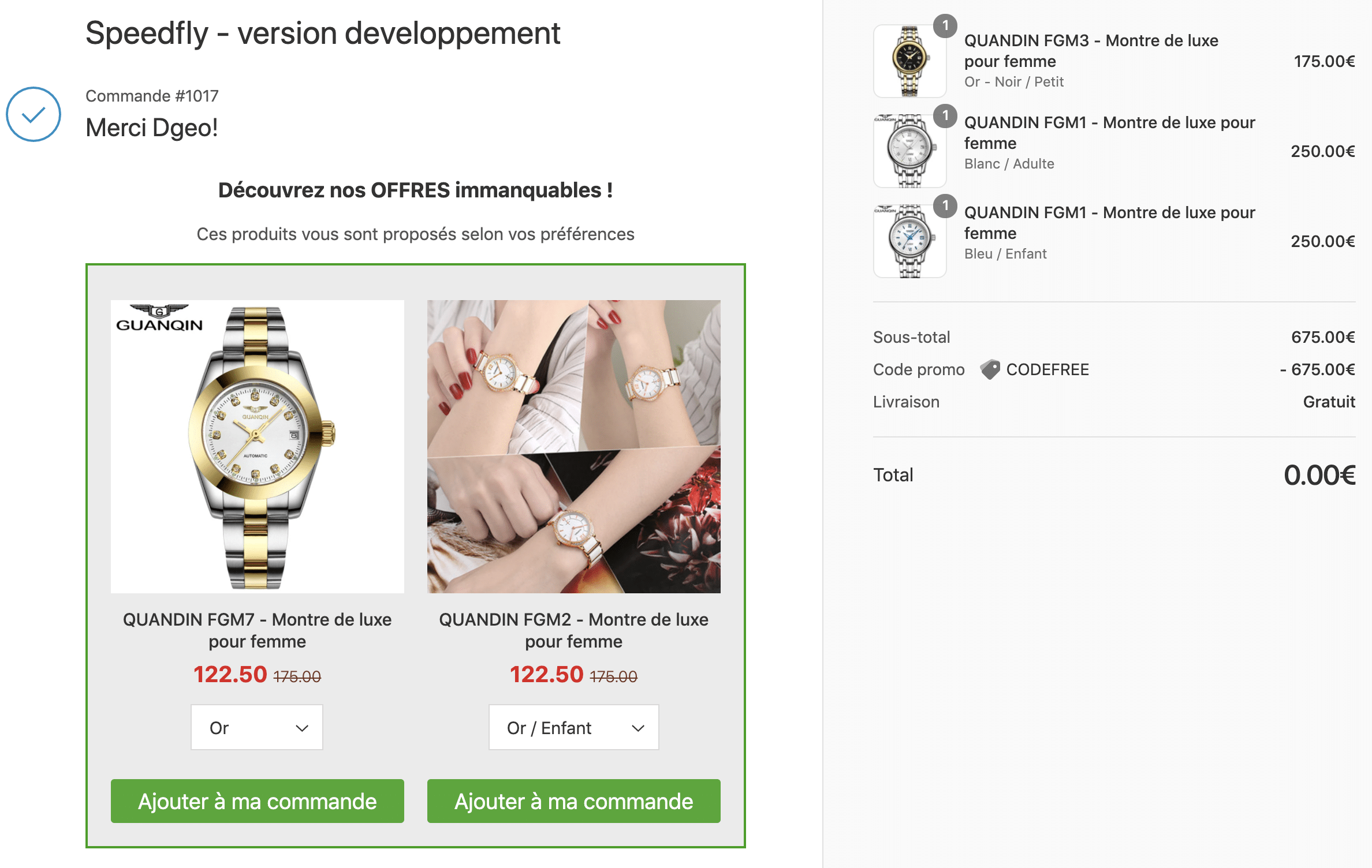 speed offer application post purchase shopify