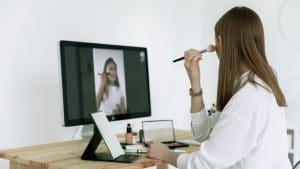 Test de produit make-up en ligne