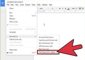 télécharger document en HTML