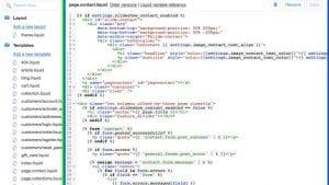 modifier le code Shopify