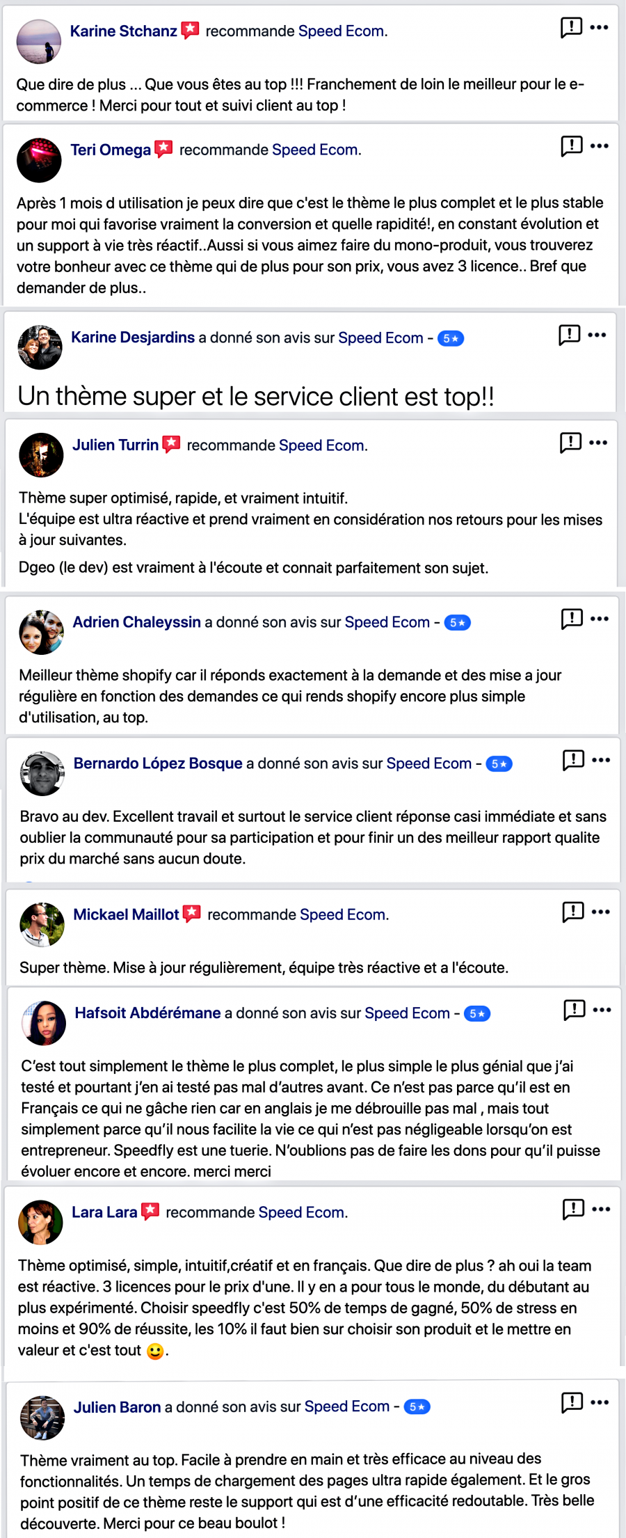 speedfly avis clients